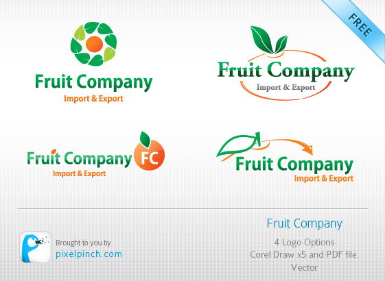 Folder Free Vector Logo   #1 Fruit Company