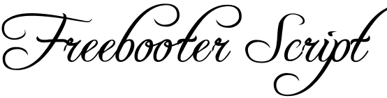 freebooter script1 10 Most Popular Script & Calligraphy Fonts