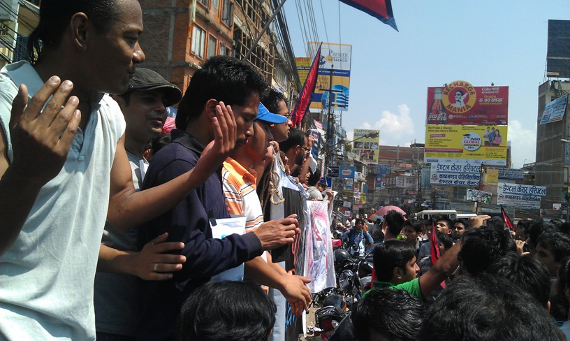 IMAG0077 Peaceful demonstration by youth   Nepal