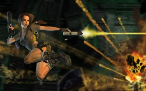 Lara croft 21 300x187 Girls in Games | 30 Wallpapers Collection