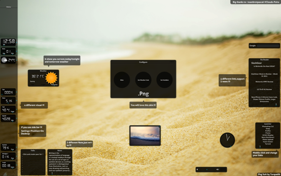 png suit by torque89 d42a33m Best Rainmeter Themes / Skins Collection   2011