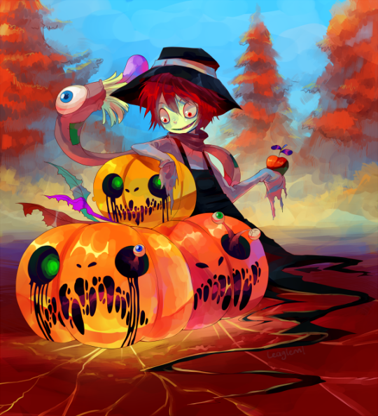 autumn is here by leaglem d4bsnmj 20 Fresh, Best & Scary Halloween Artworks Of Year 2011