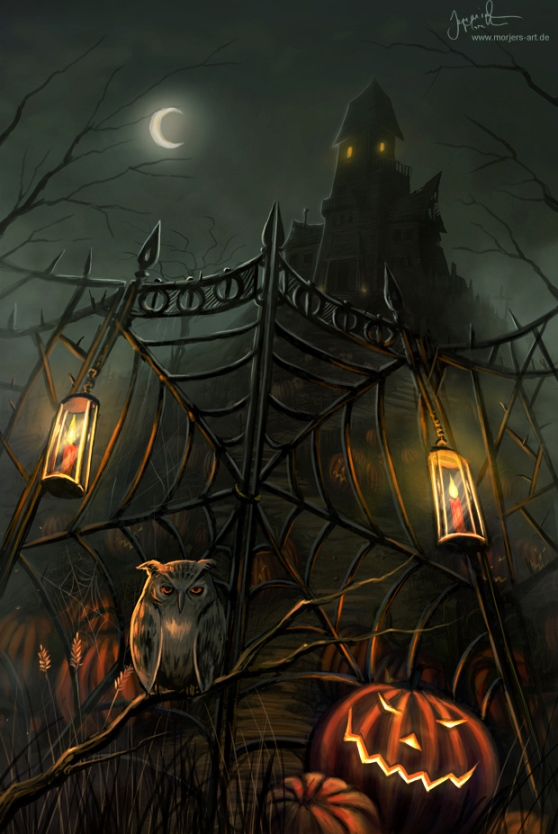 halloween gate by jerry8448 d4ao5y2 20 Fresh, Best & Scary Halloween Artworks Of Year 2011
