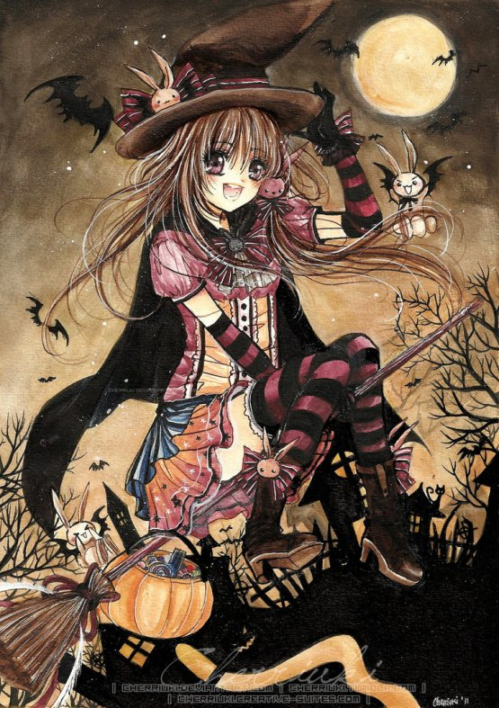 happy halloween    by cherriuki d4ekrzh 20 Fresh, Best & Scary Halloween Artworks Of Year 2011
