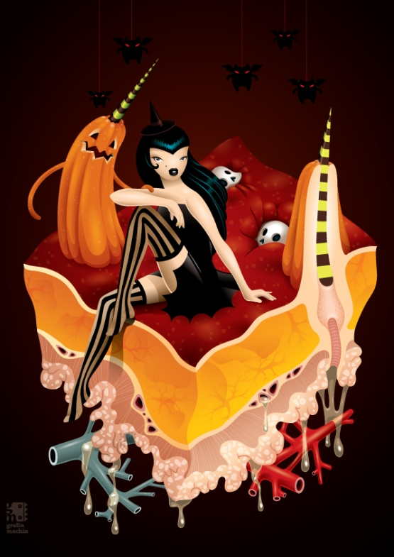 the anatomy of halloween by grelin machin d4cig7c 20 Fresh, Best & Scary Halloween Artworks Of Year 2011