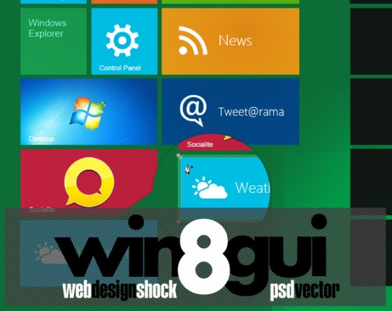 windows8 Metro UI PSD Pack Free Microsoft Windows Metro UI PSD Packs