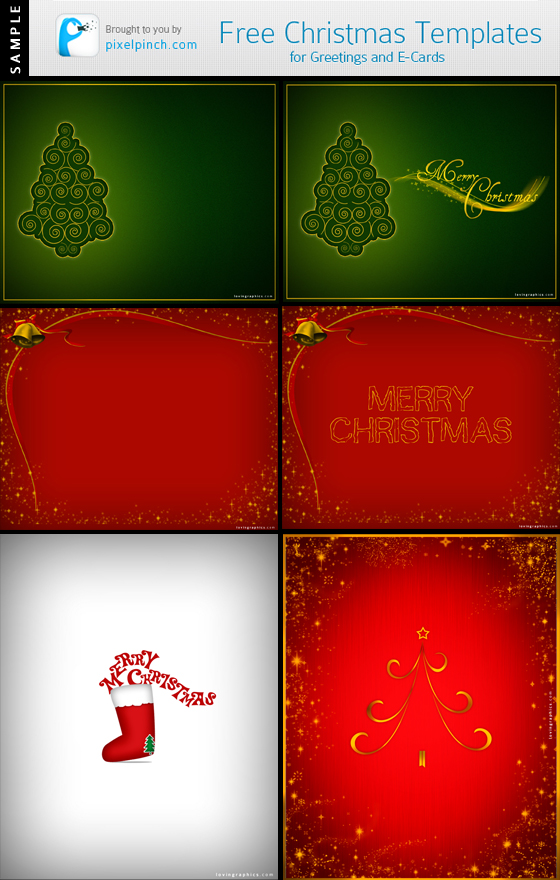 Free Christmas Designs Sample Free Christmas Design Templates for Greetings and eCards