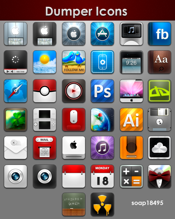 dumper icons pack by draseart d4g7i4r Fresh & Best Icon Collection Of The Month November #4