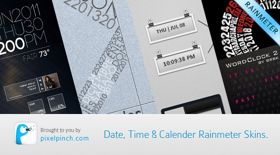 Date Time Calendar Rainmeter Skin Best date, time and calendar Rainmeter skins / themes