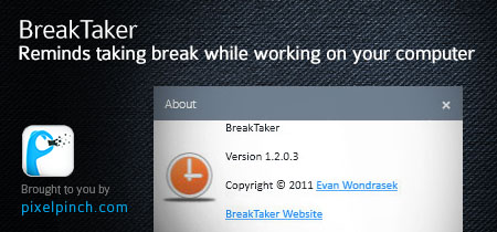 breaktakerreview BreakTaker   Reminds taking break while working on your computer